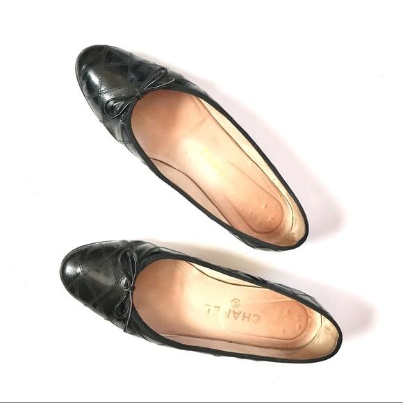 VTG Chanel Patent Leather Ballet Ballerina Flats